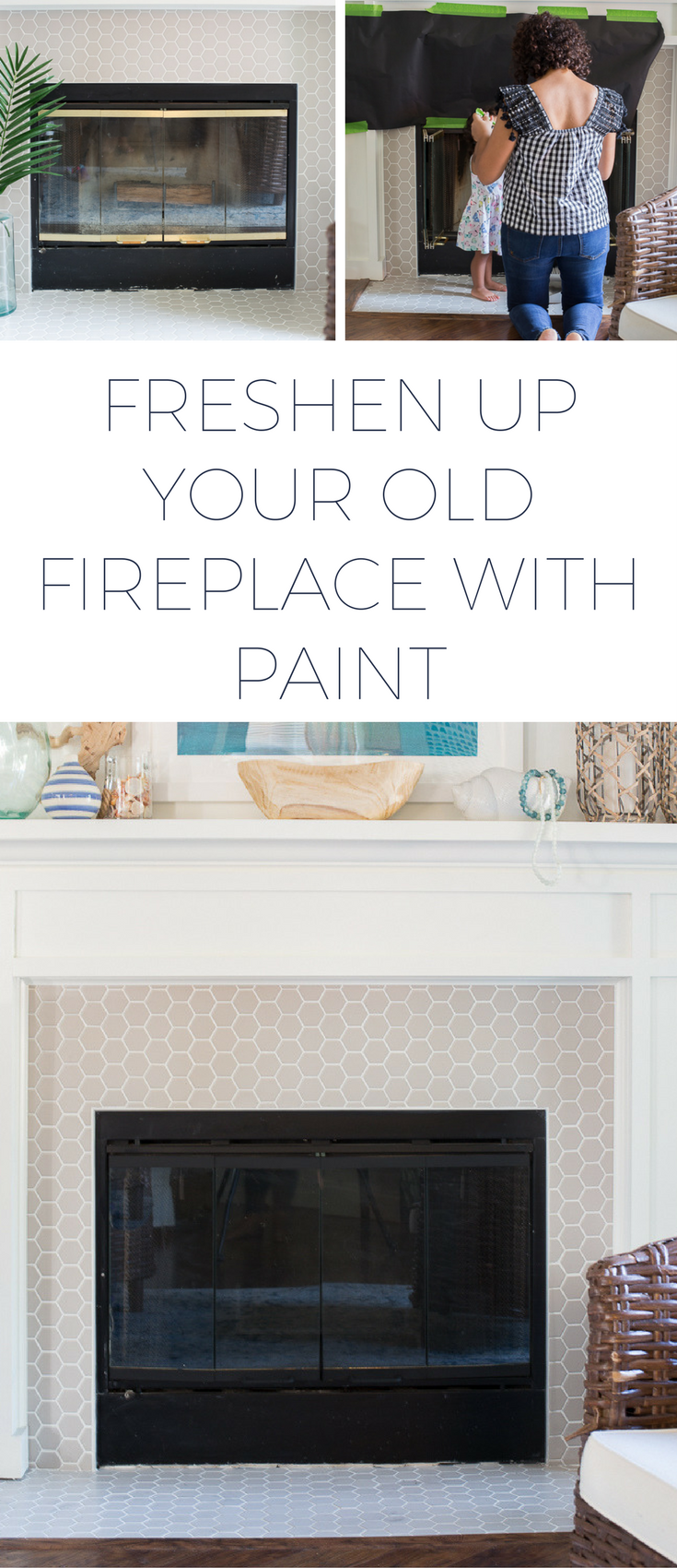 How to paint a fireplace with fireplacepaint to refresh a 90s era fireplace