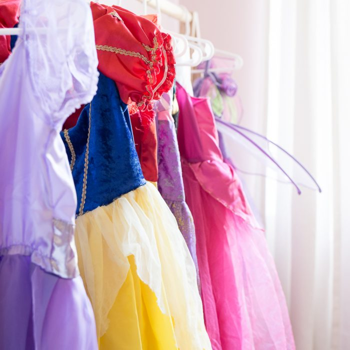 Girls DIY Dress Up Storage Station