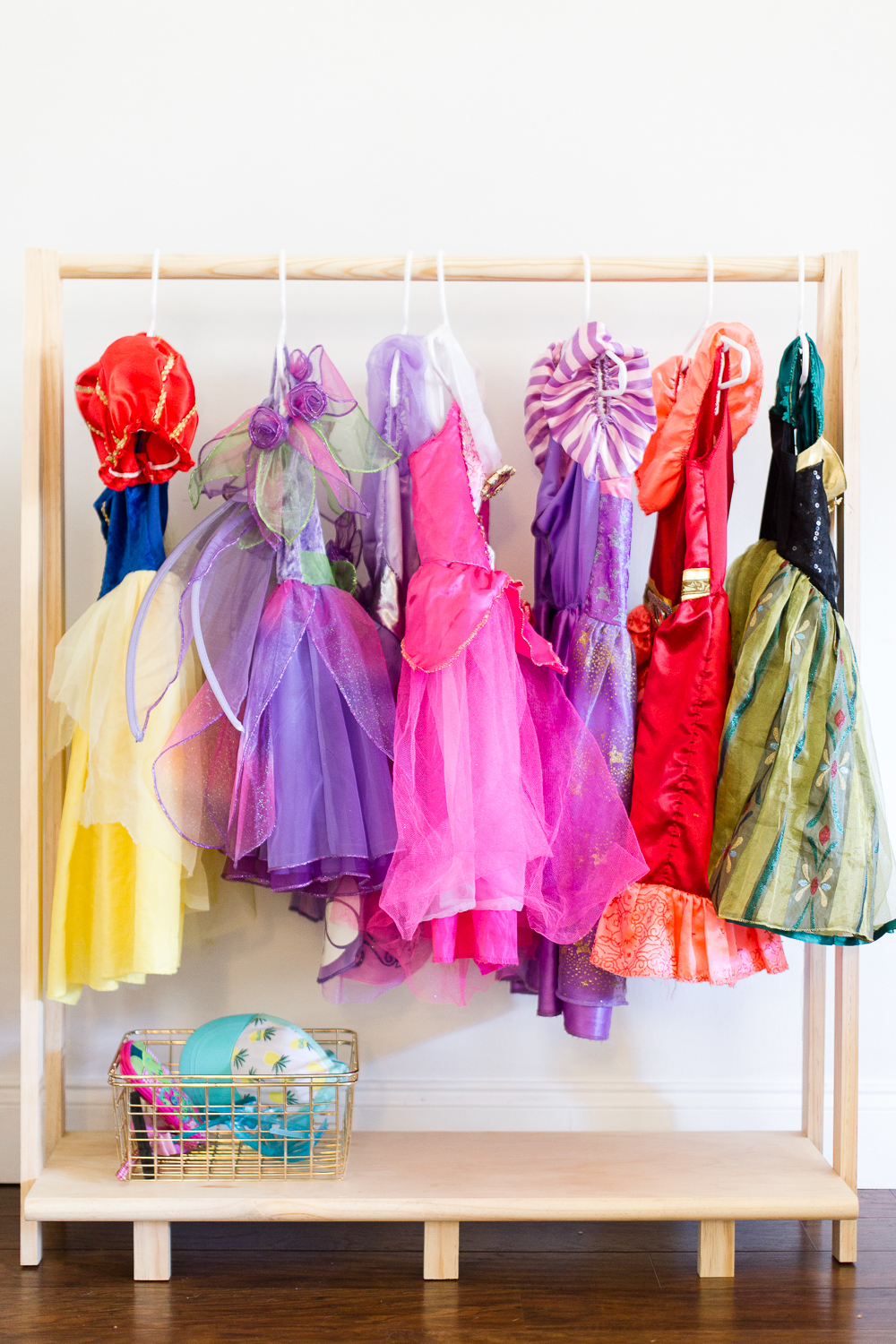 DIY girls dress up station