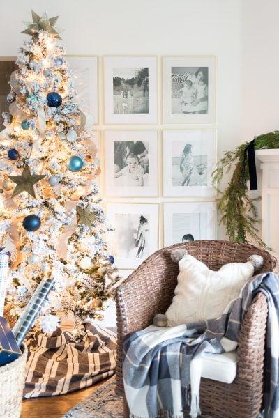 Blue and White Christmas Tree - Coastal Christmas