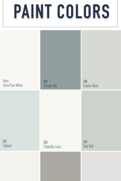 Whole House Paint Colors - Behr Paint Colors - Benjamin Moore Paint Colors - Sherwin Williams Paint Colors