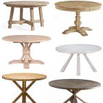 Modern Coastal Round Dining Tables