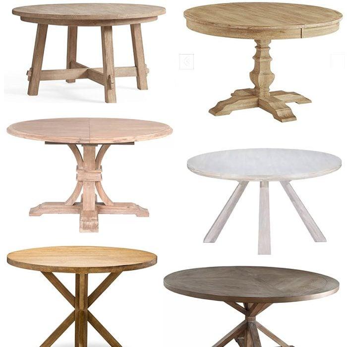 Modern Coastal Round Dining Tables