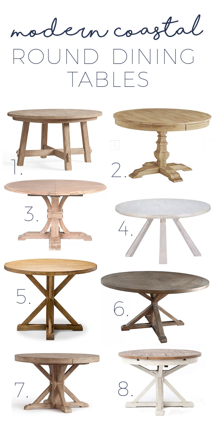 sc 1 st  Making Home Base & Modern Coastal Round Dining Tables - Gorgeous options as low as $400!