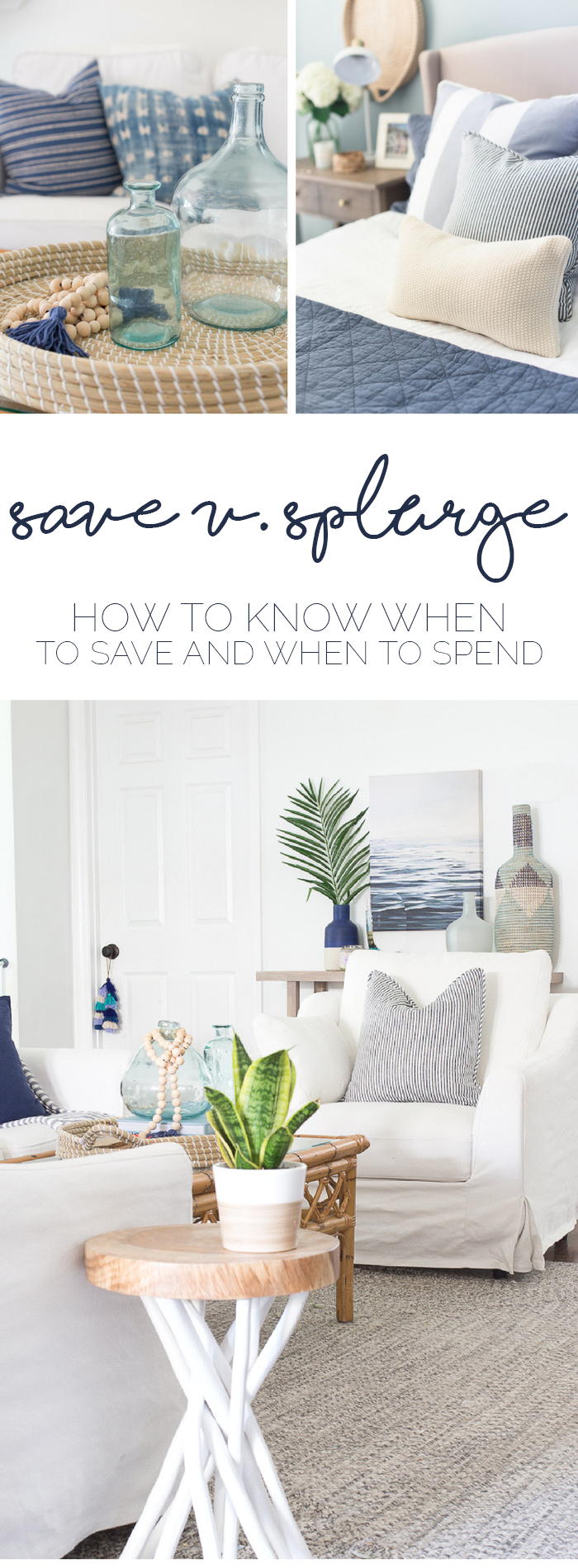 Save or Splurge on Home Furnishings