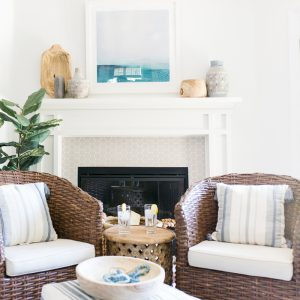How to Style A Mantel Area with At Home