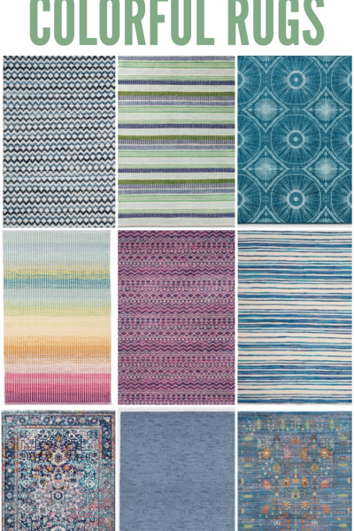 Colorful rugs for a playroom or any bright space!