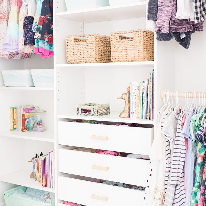 Kids Closet Makeover with an IKEA Closet Organizer