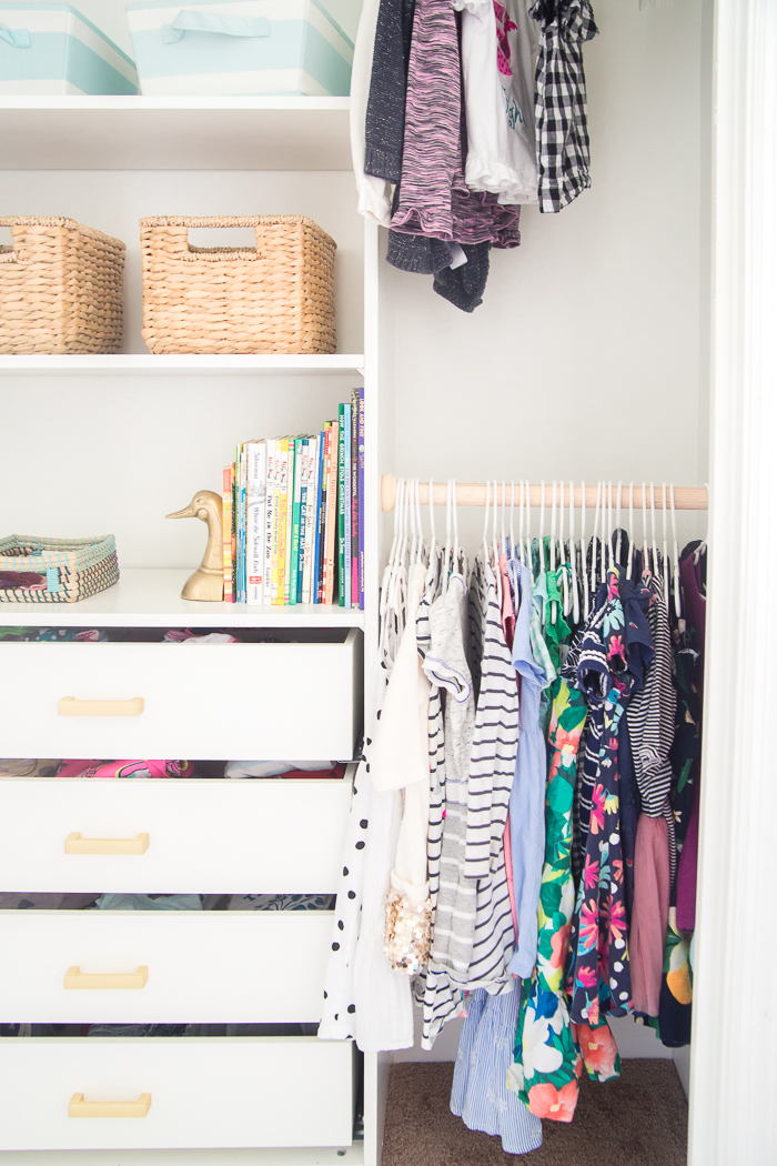 DIY Closet Organizer From An IKEA Shelving System