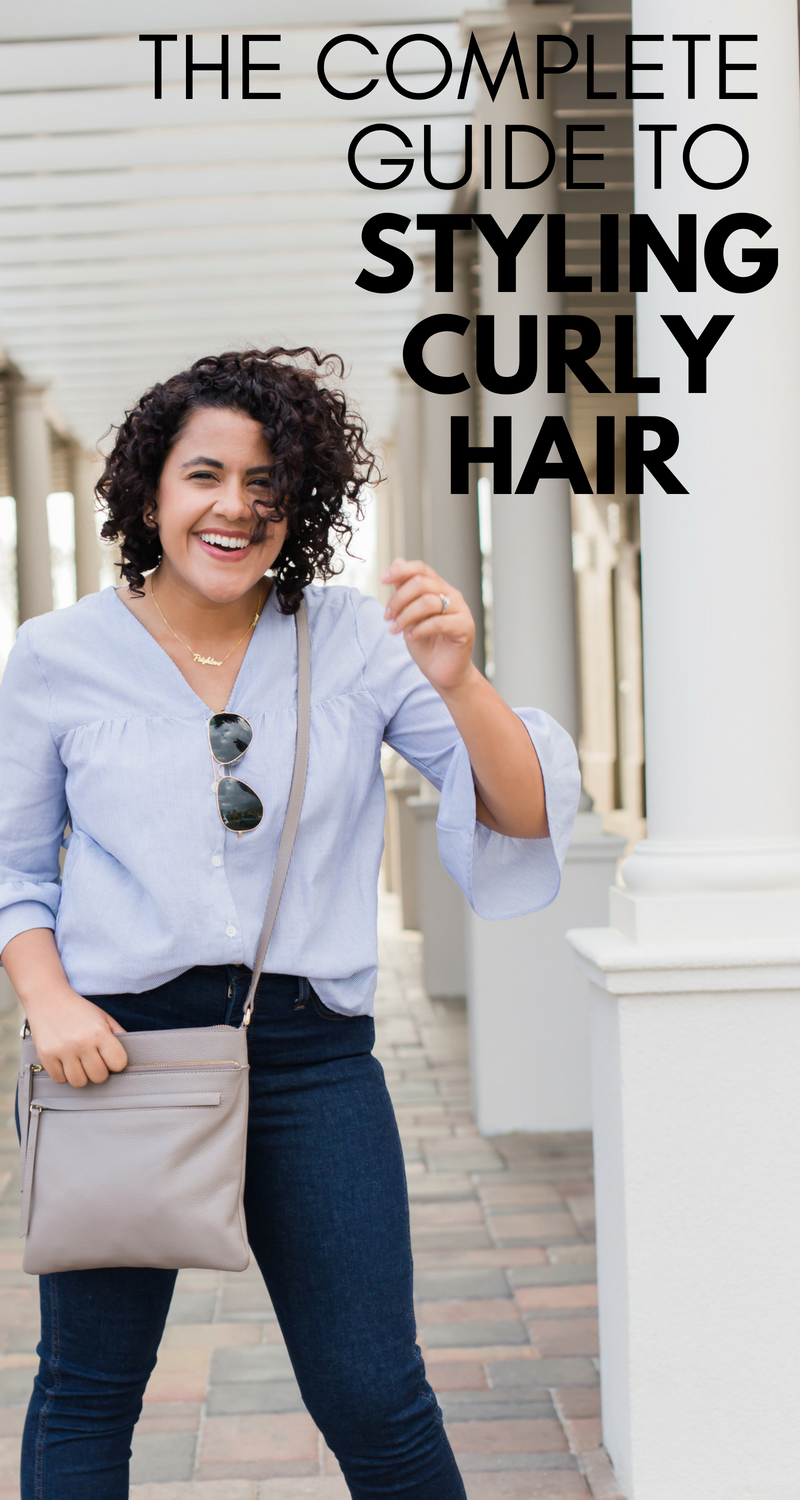 Curly girls unite - this is the best guide on how to style curly hair that I've seen. A real curly girl explains her products, routine, and more.