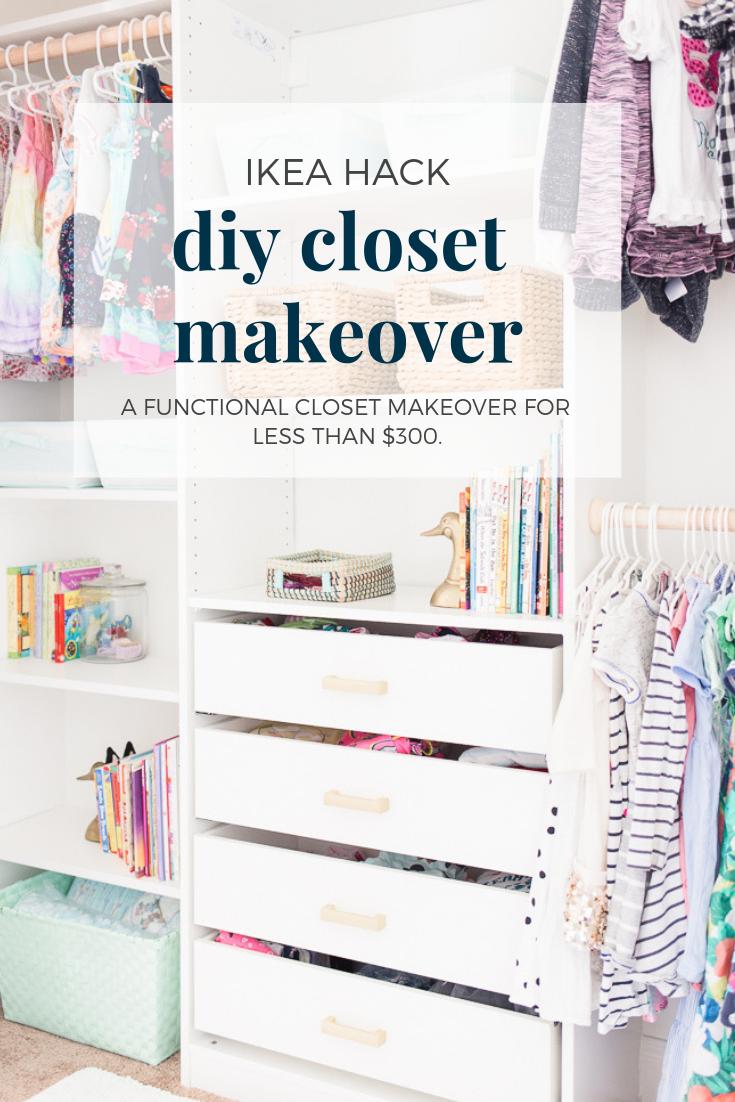 DIY Closet Makeover - IKEA Hack