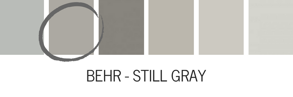 Behr Still Gray Is A True Medium It Warmer That Works Really Well With Low Natural Light I Used In For My Kitchen Cabinets E