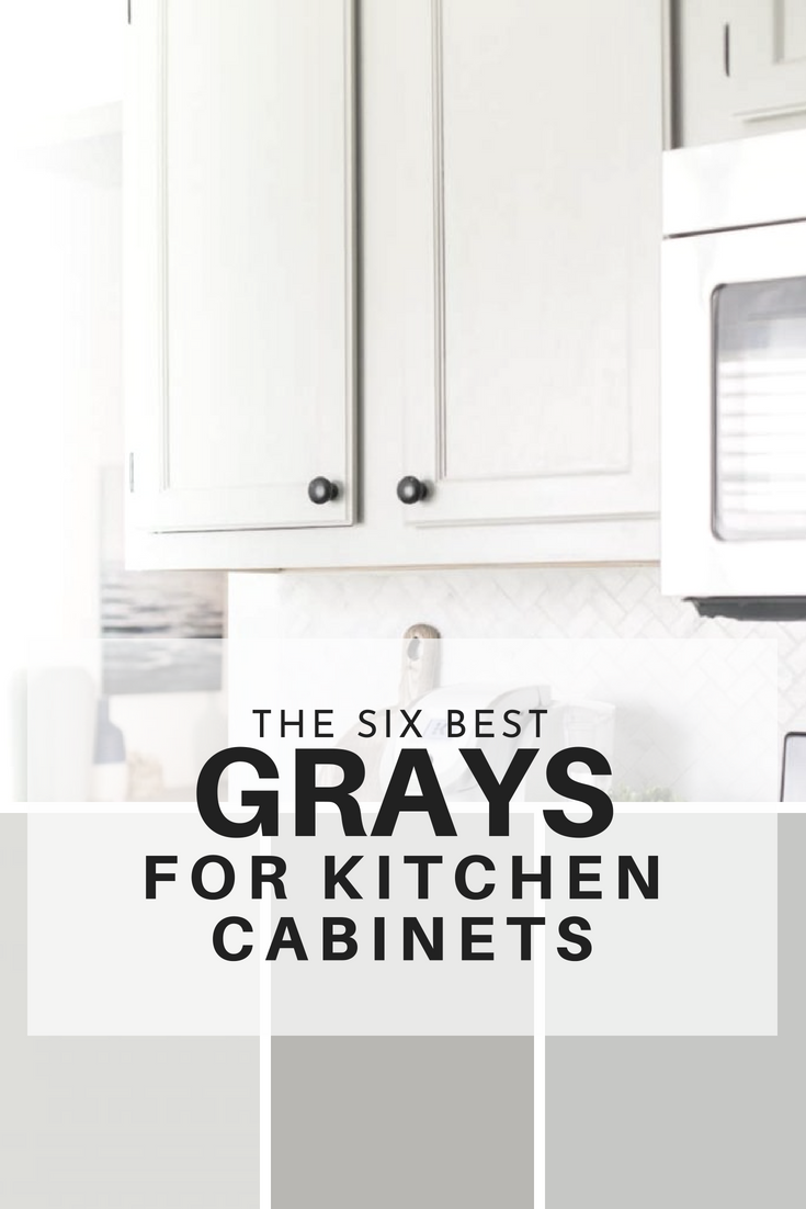 the six best paint colors for gray kitchen cabinets