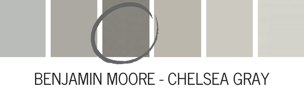 Benjamin Moore Chelsea Gray Is A Rich Warm That Looks Very Beautiful Contrasted With White I Love Seeing This Color On Kitchen Cabinets Paired