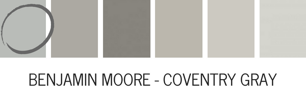 Benjamin Moore Coventry Gray Is A Beautiful Deep That Has Blue Green Undertones In Space With Lot Of Natural Light You Will See Subtle Hint