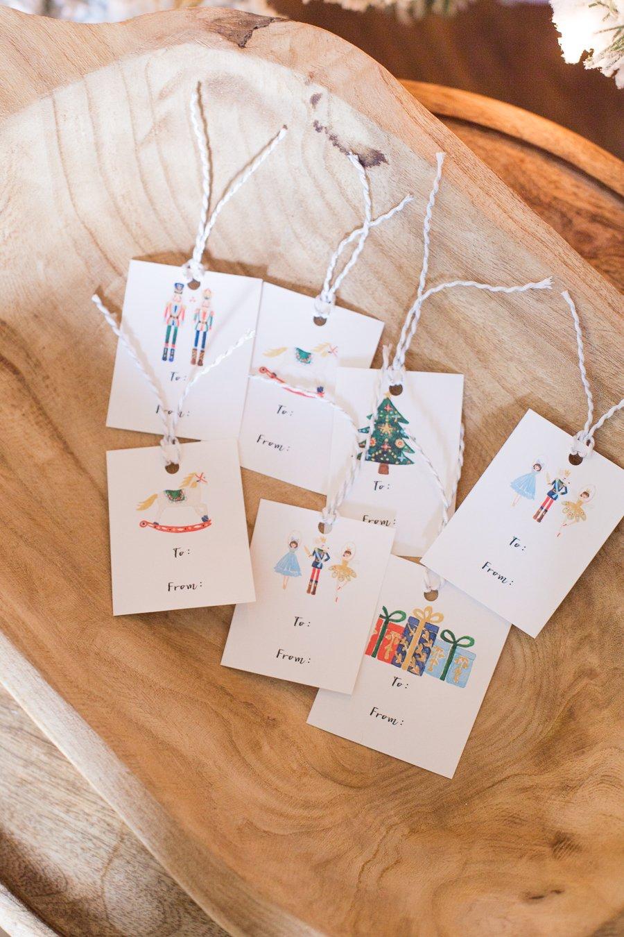 Free Nutcracker gift tag printables