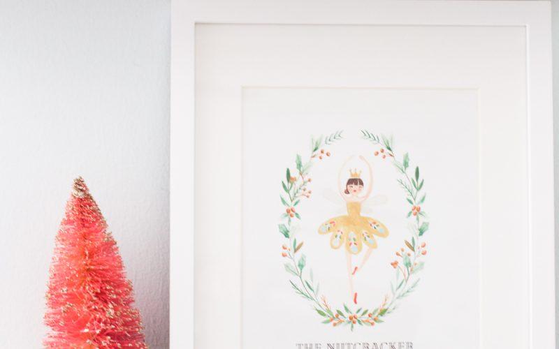 Nutcracker-themed Christmas Printable Gift Tags and Wall Art
