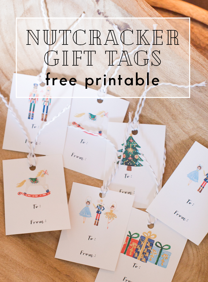 Free Nutcracker Printable Set - notecards, art print, and gift tags
