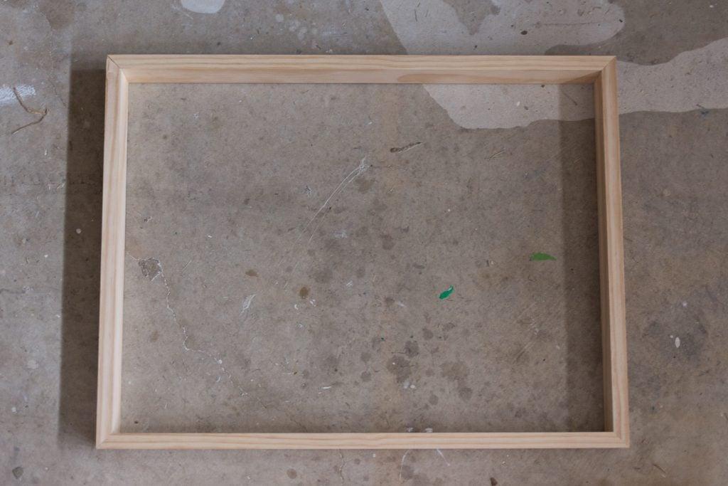 DIY Framed Canvas - Making Home Base