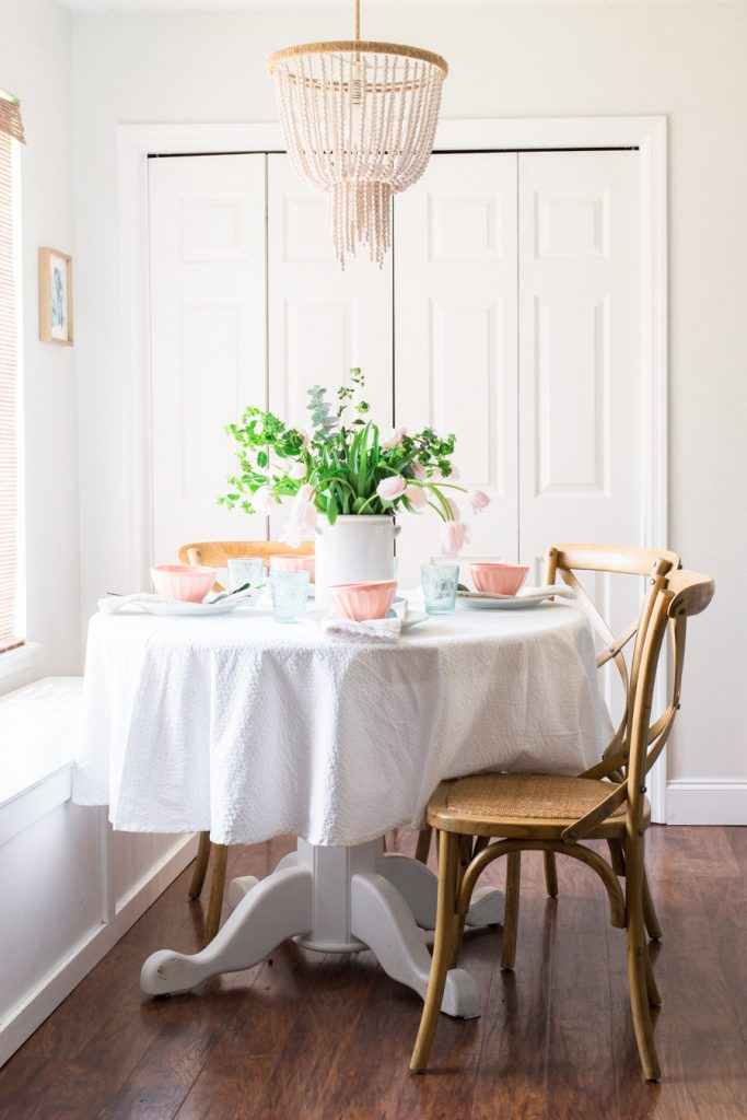 Beautiful spring breakfast nook