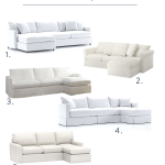 White Sofas with a Chaise