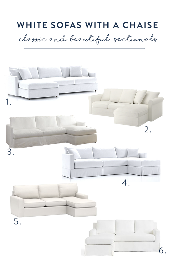 Astonishing Sofa Options White Slipcovered Sofas With A Chaise Gmtry Best Dining Table And Chair Ideas Images Gmtryco