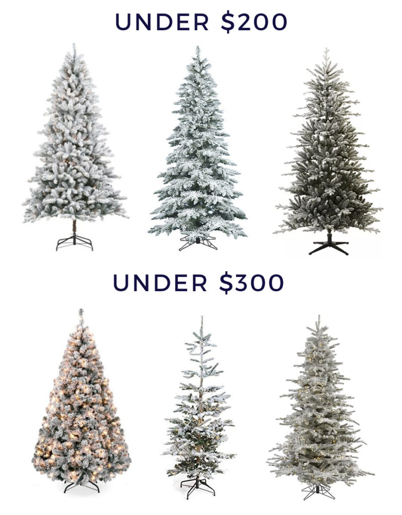 Flocked Christmas Trees of any budget