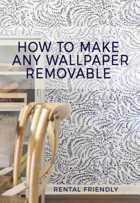 How to make any wallpaper removable. Rental Friendly Wallpaper Installation