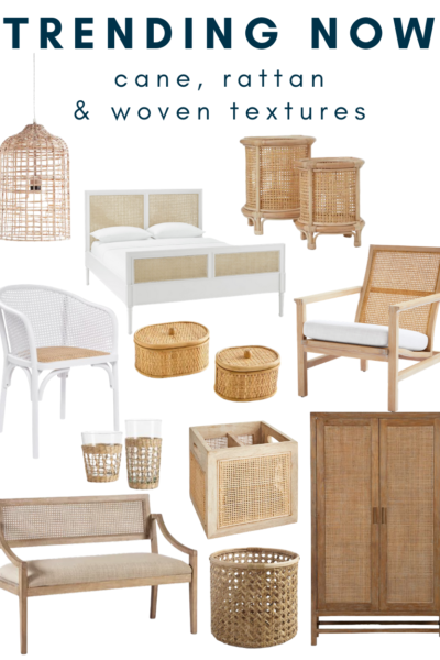 rattan and cane furniture and other woven pieces