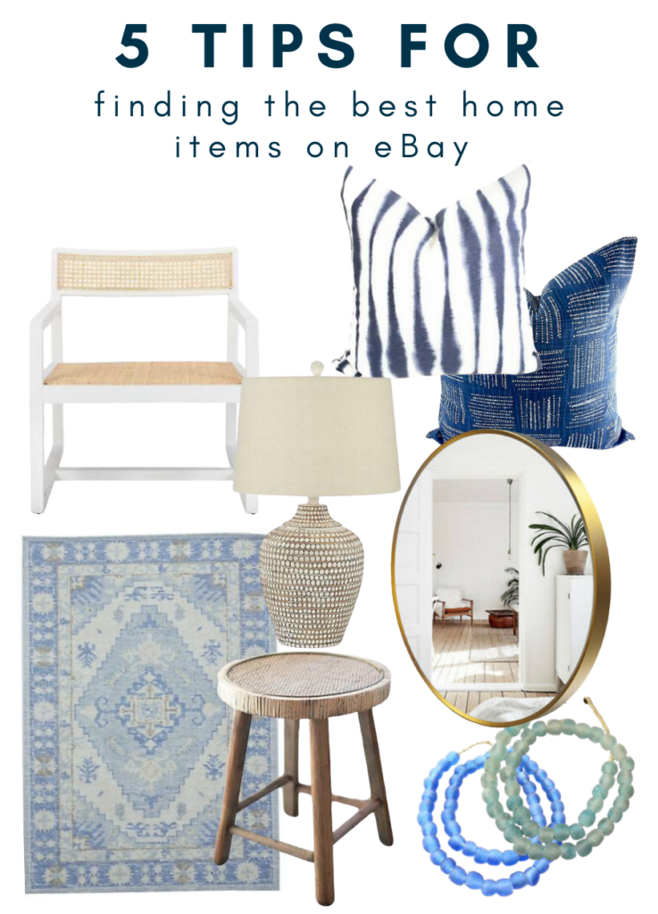 5 Tips for Finding the Best Home Items on eBay - a round up of gorgeous eBay home decor finds.