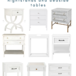 Stylish White Nightstands