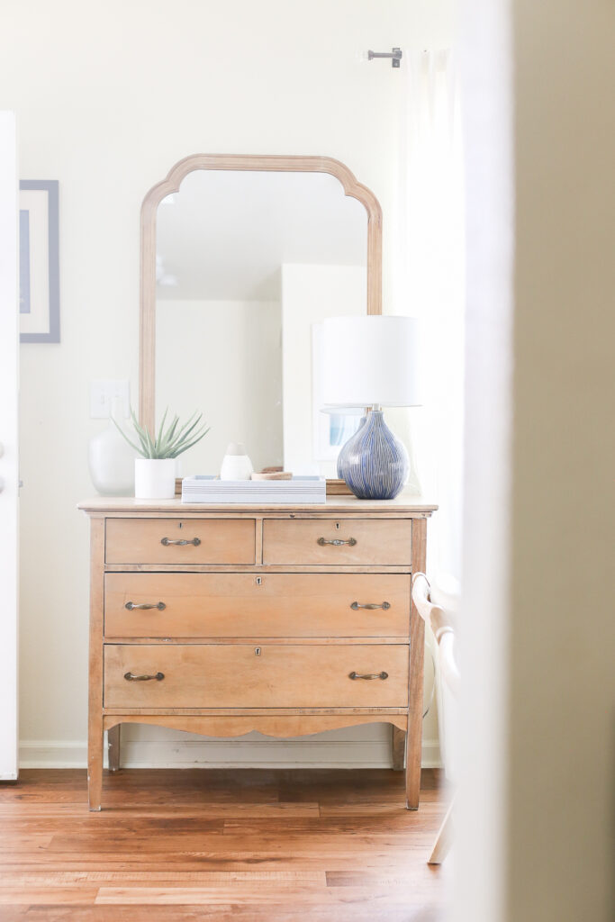 How to Bleach Wood Furniture - This dresser was lightened by using the bleach method. A complete tutorial
