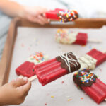 Chocolate Dipped Fruit Bars with Whole Fruit
