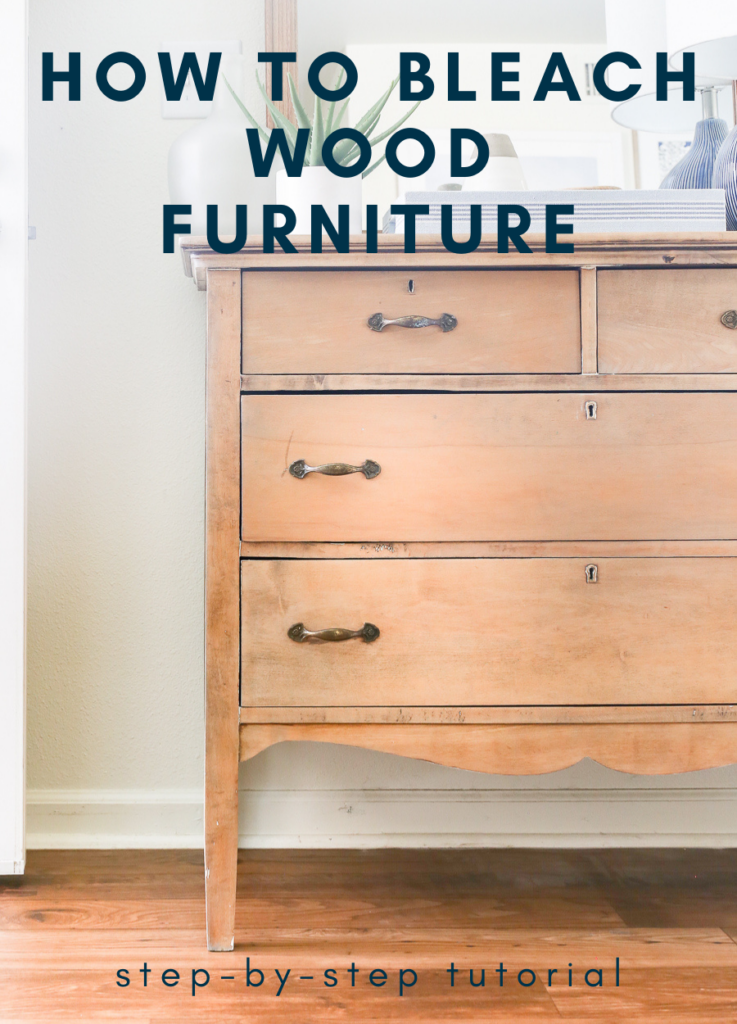 How to bleach wood furniture - vintage dresser has been lightened by using bleach.