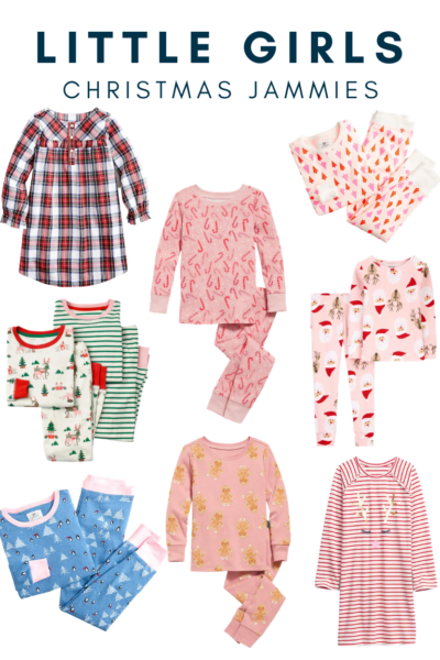 Eight darling pairs of Christmas jammies for little girls