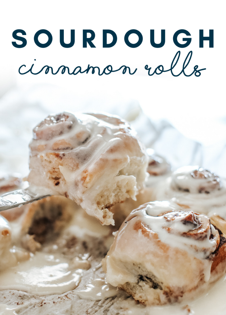 Rich and delicious sourdough cinnamon rolls with cream cheese icing