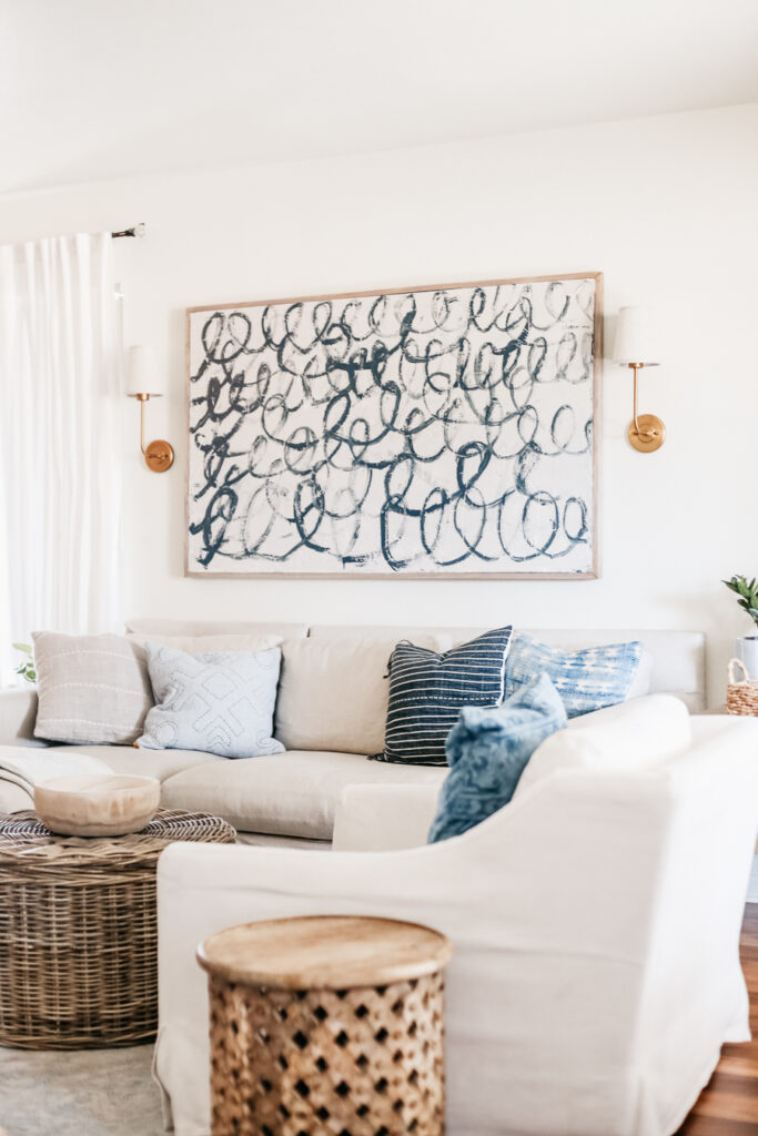 DIY Canvas Budget friendly large scale art that you can create yourself.