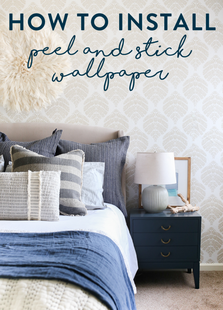 How to install peel and stick wallpaper - great for rentals