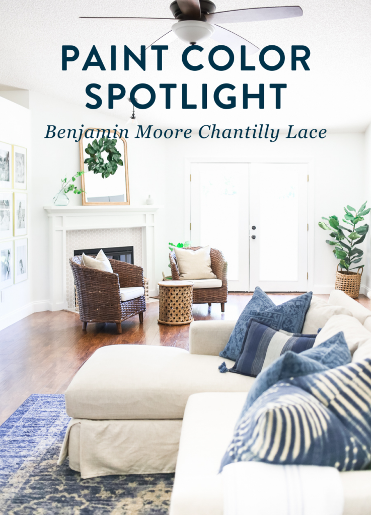 Benjamin Moore Chantilly Lace OC-65 - a beautiful white paint color