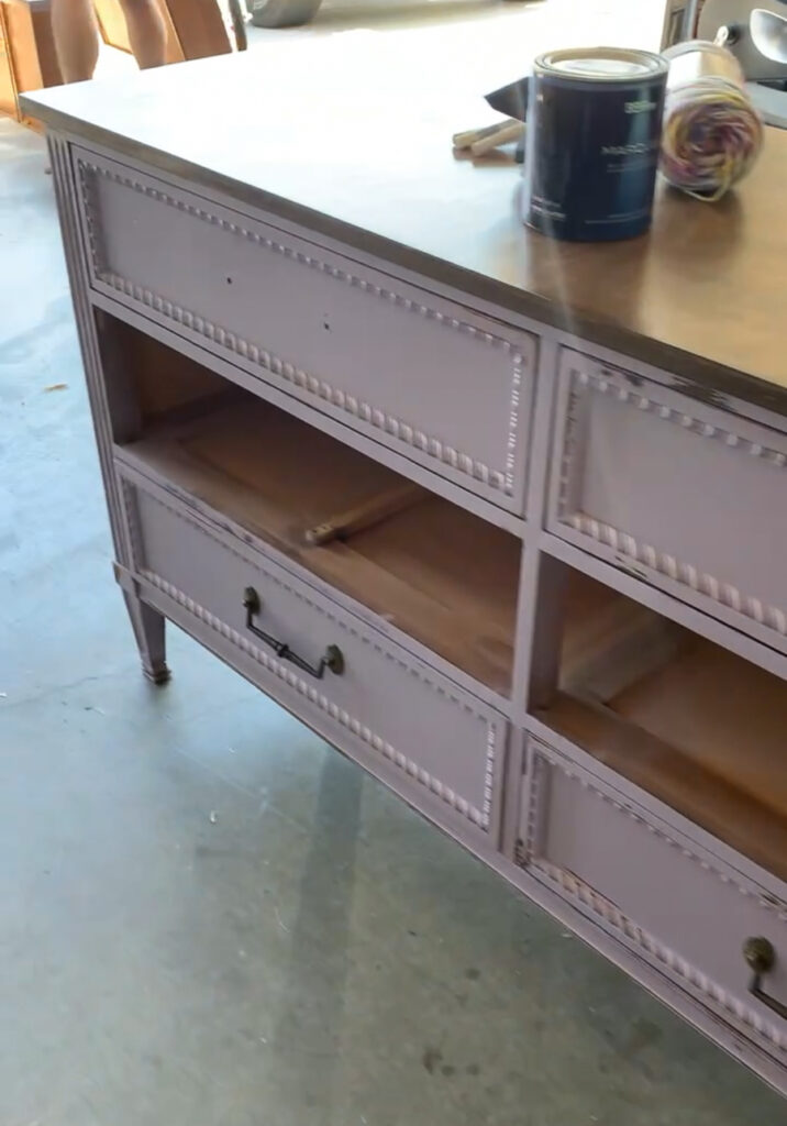 updated painted dresser