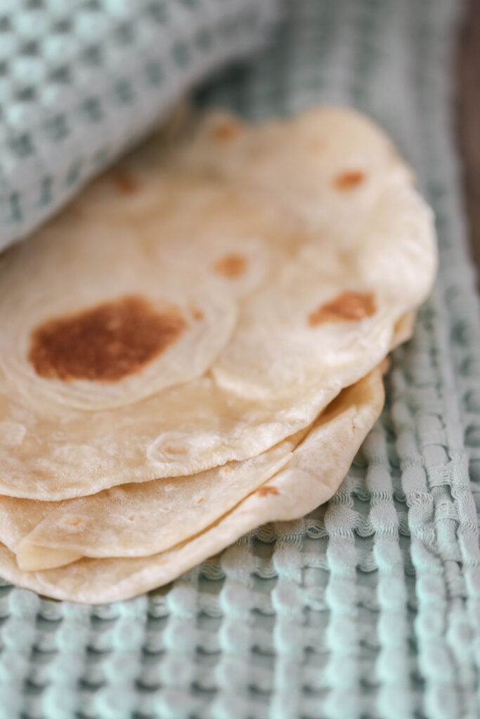 Homemade Flour Tortilla Recipe - This is a family favorite flour tortilla recipe that we make weekly for taco night.