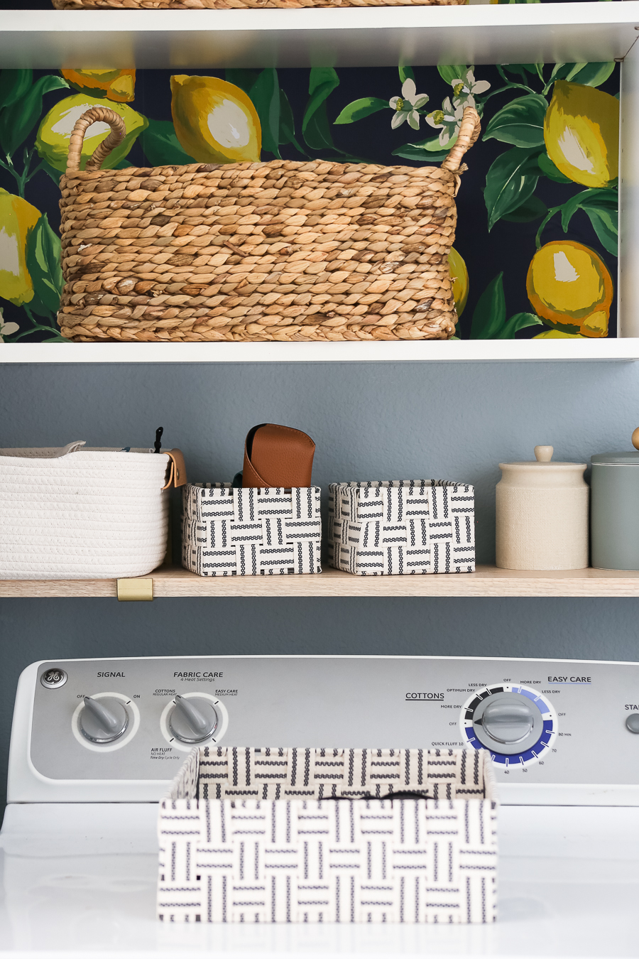 Storage in a small laundry room