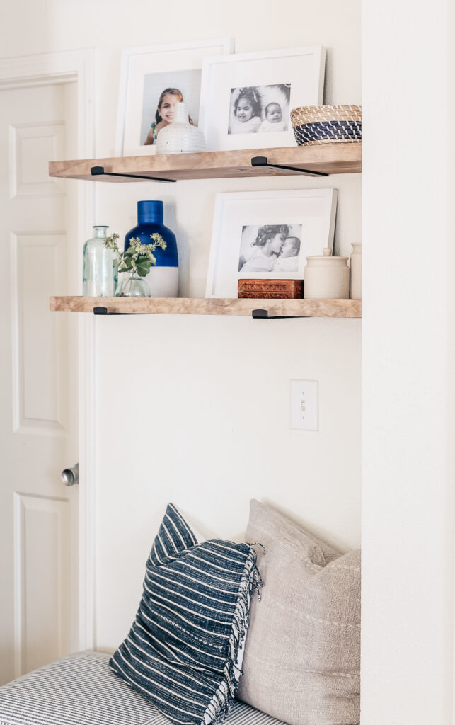 Installing floating shelves using a DIY Kit